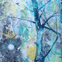 A Viridescent Woodland by Ananda 12x36w inches