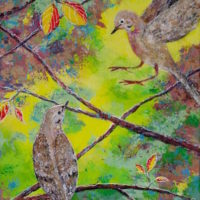 Doves Matins to Vespers by Ananda 24x12w inches