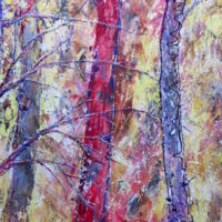Flickers in Woods 12x24w inches