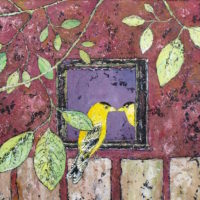 Goldfinch Self Reflection by Ananda 12x12
