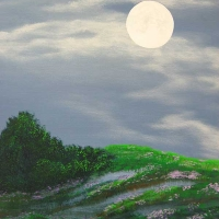 Kathy Alderman - Moonlight Lavender - Acrylic - 24 x 30