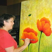 Kathy Alderman - Painting Spring Poppies