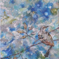 Mockingbirds on Branches by Ananda 24x12w inches