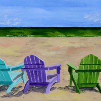 Sharon Barnes - Beach Trio - Acrylic