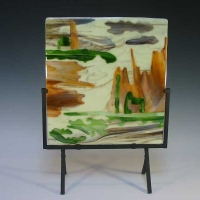 Trudy Thomson - Habitat in the Hills - Fused Glass