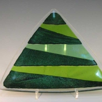 Triangulate Set of Two - Fused Glass - 5 x 5 x 5