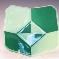 Green Modern Clipped Square - 9.5 wide x 5 deep